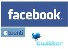 Redes Sociales, Tuenti, Facebook, Twitter