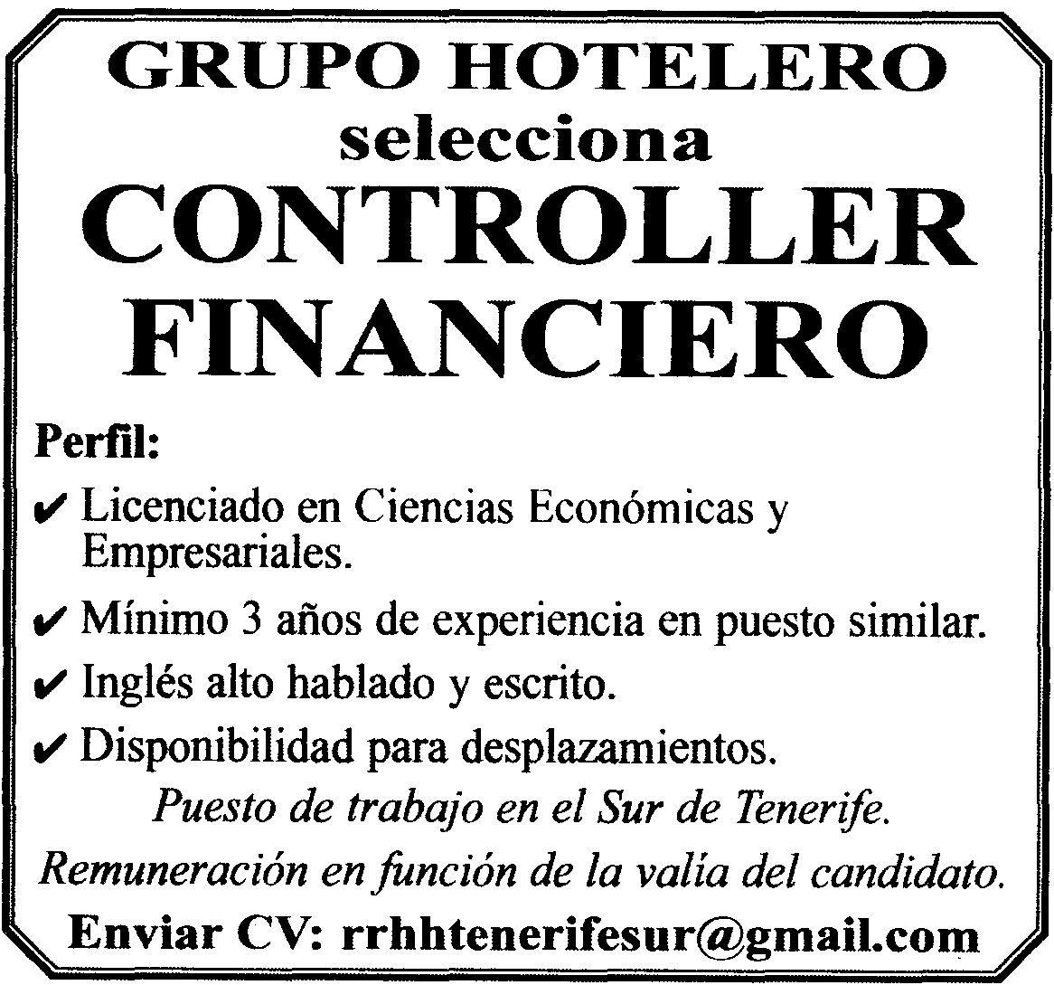 Oferta de empleo controller financiero para el sur de - Oferta de trabajo ...