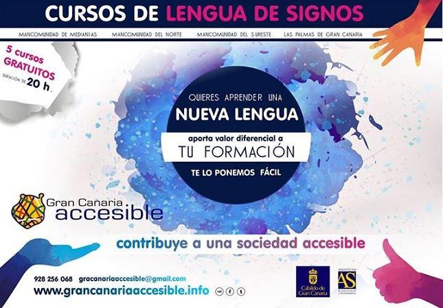Cursos gratuitos lengua de signos - Gran Canaria Accesible