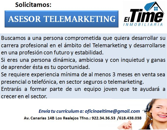 Asesor/a Telemarketing