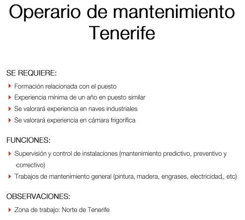 Synergie: Operario de Mantenimiento para Tenerife