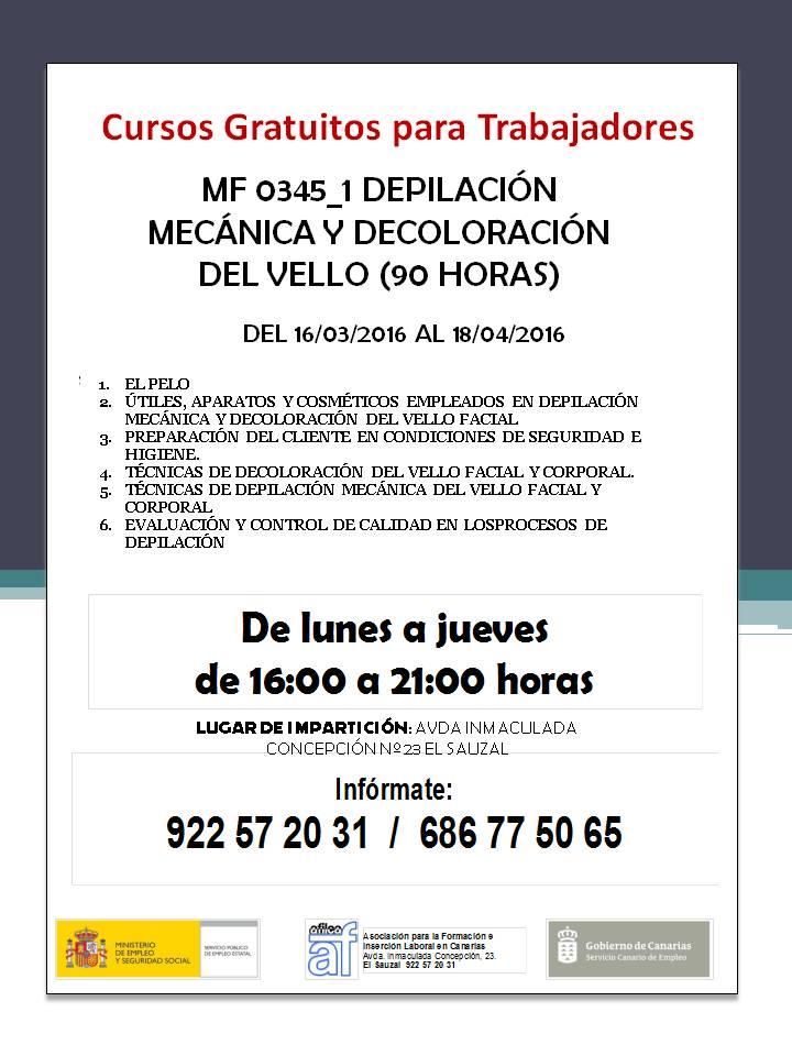 """Curso gratis """"Depilación Mecánica y Decoloración del Vello"""""""
