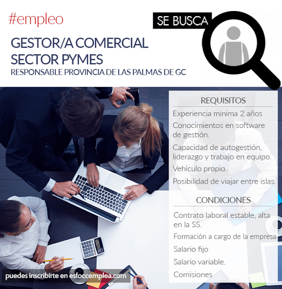 Gestor/a Comercial Sector Pymes