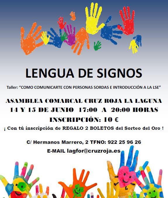 "Taller ""Lengua de signos"" de la Cruz Roja en La Laguna"