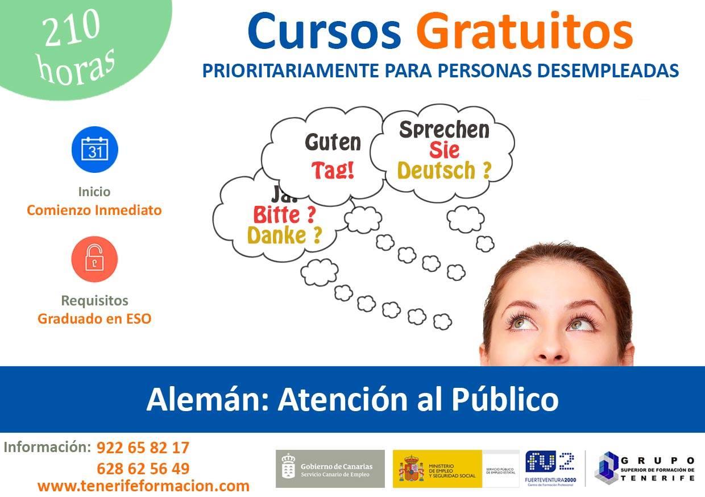 """Curso gratis """"Alemán Atención al Público"""""""