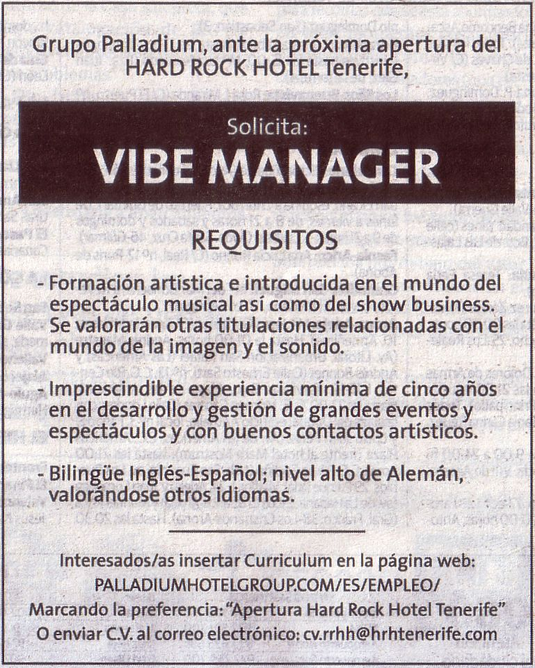 Oferta: Vibe Manager