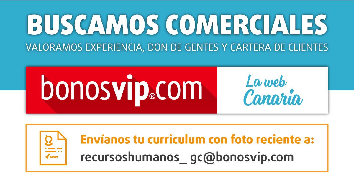 Comerciales para BonosVip en Gran Canaria
