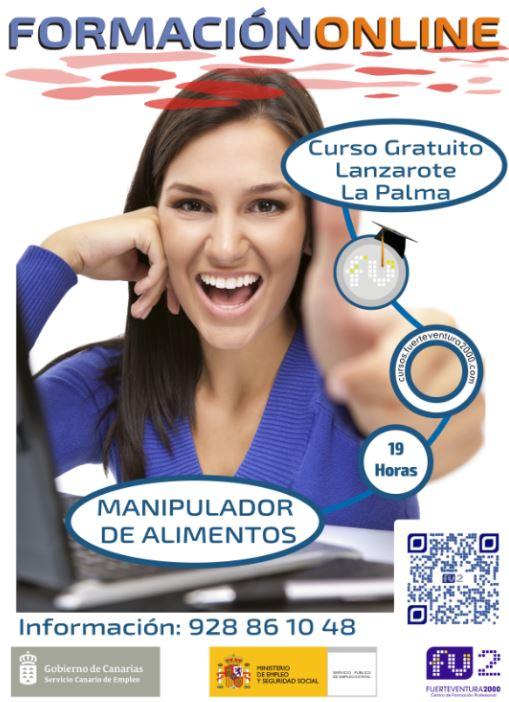 La palma ofertas de trabajo becas empleo y cursos en canarias enbuscade - Curso de manipuladora de alimentos gratis ...