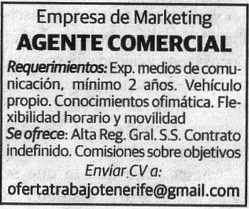 Oferta: Agente Comercial