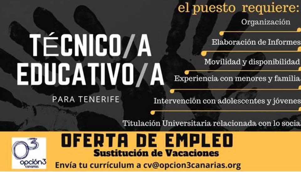 Técnico/a Educativo/a para Tenerife
