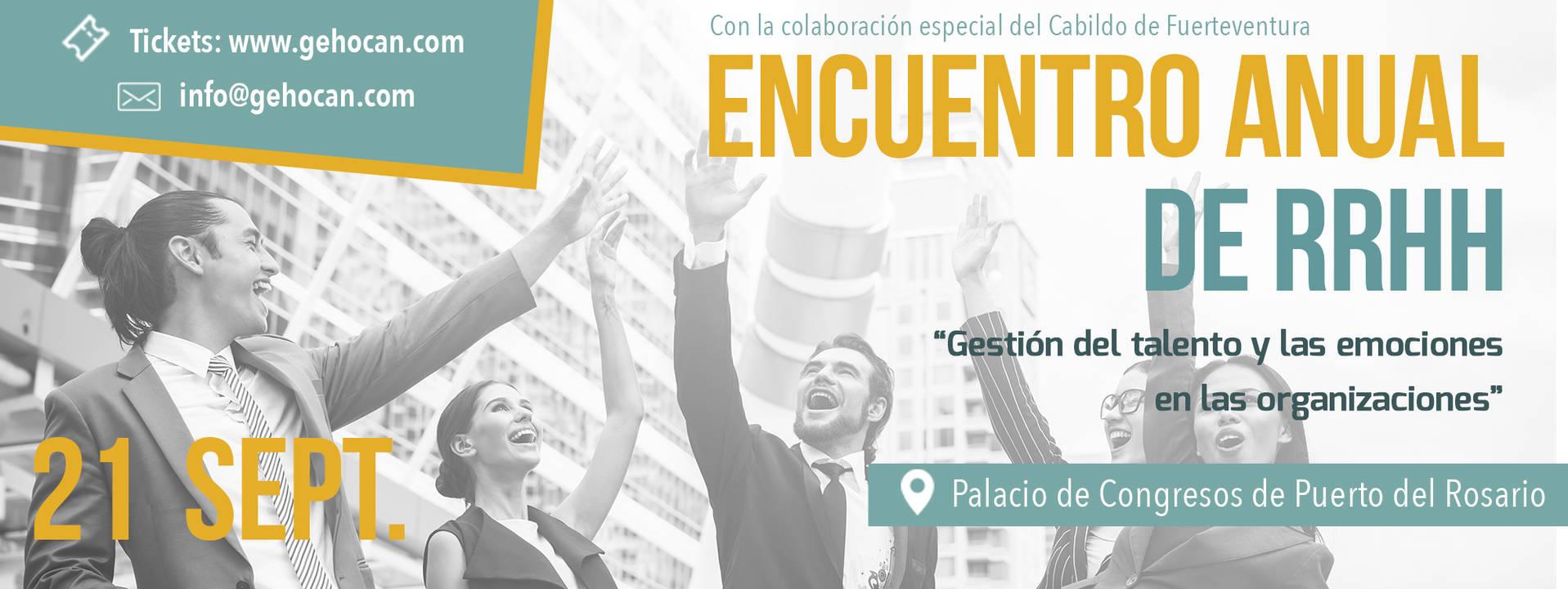 """Encuentro Anual de RRHH de Canarias en Fuerteventura: """"Gestión del talento y las emociones en las organizaciones"""""""