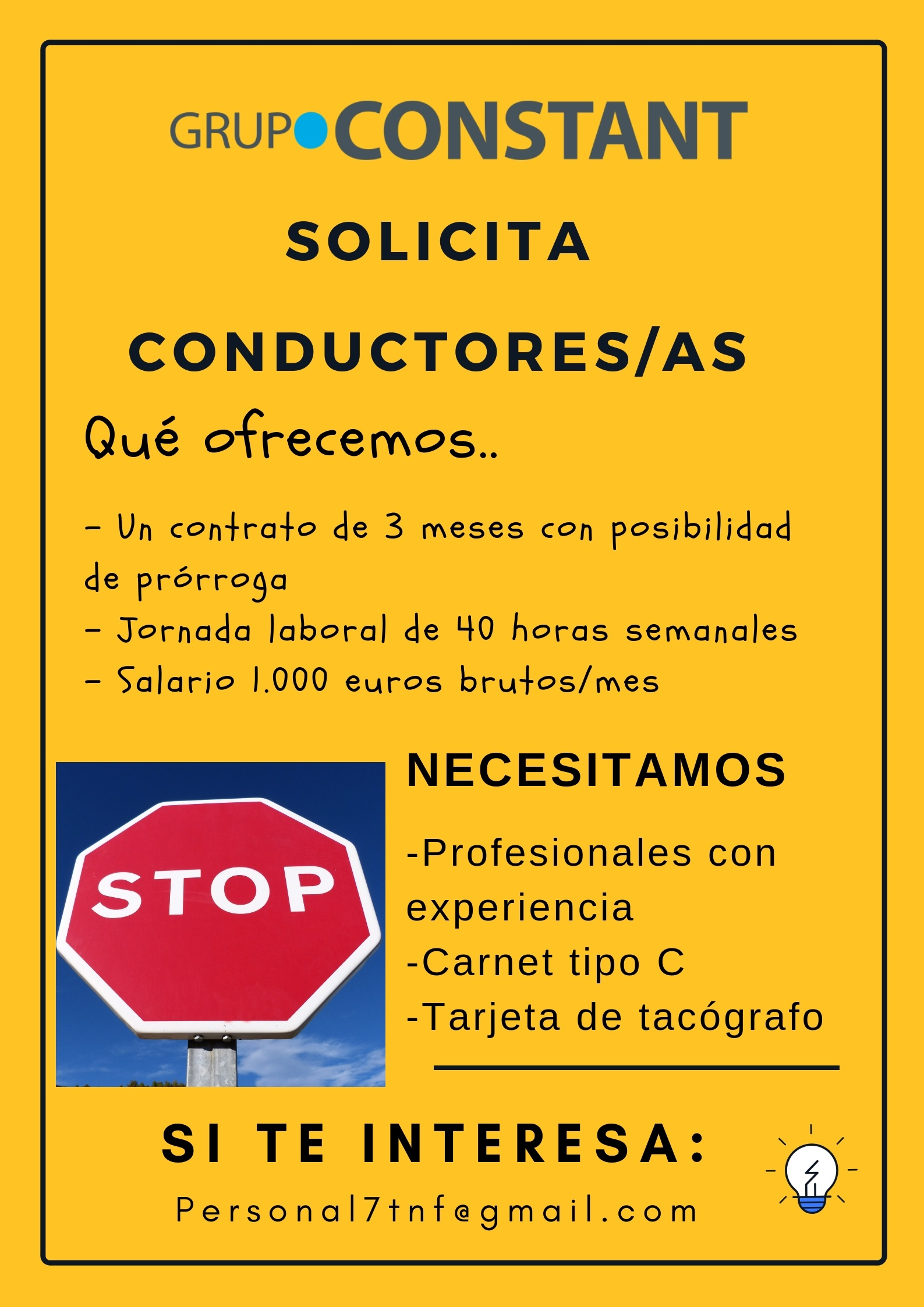 Conductores/as para Tenerife